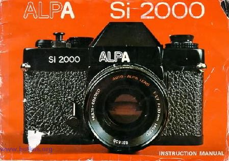 Alpa Si 2000 Camera Manual Instruction Manual