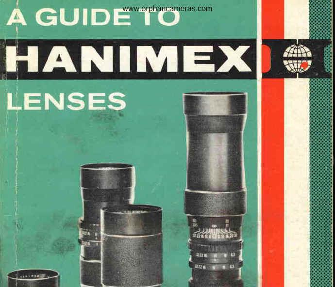 Guide to Hanimex lenses - 1965 instruction manual, user