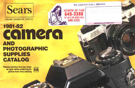 Sears camera catalog 1981 - 1982, sears box cameras, sears revolving