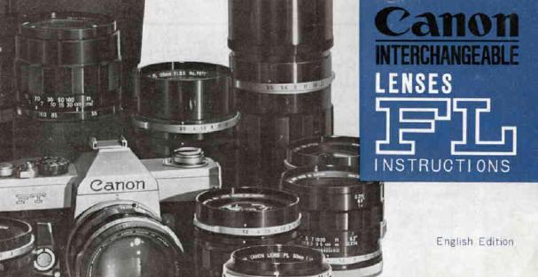 Canon FL lenses, user manual, free instruction manual, pdf