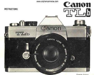 Canon TLb manual, user manual, free instruction manual, pdf