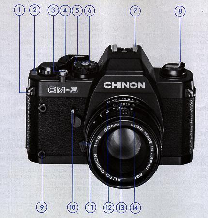 Chinon Cm 5 Camera Manual Instruction