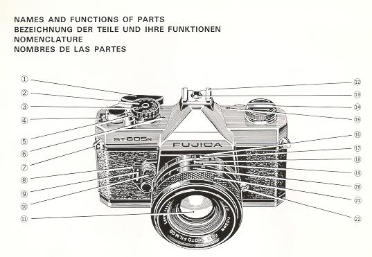 Original Fujica st605n Libro de instrucciones más cámara Fuji Manuales del propietario enumerados