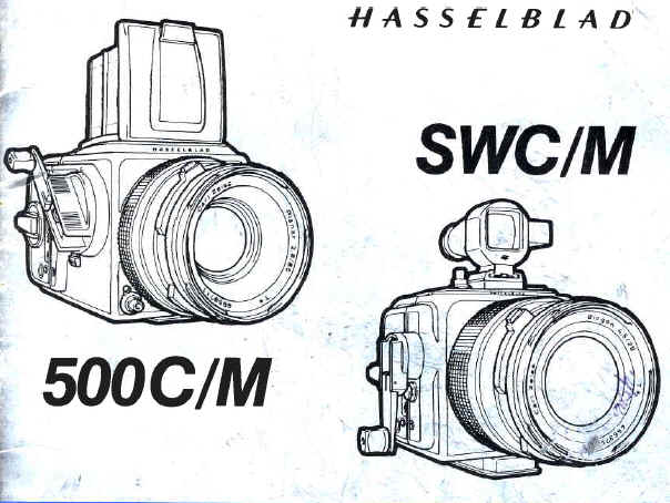 Hasselbald 500C/M SWC/M instruction manual, user manual, free PFD