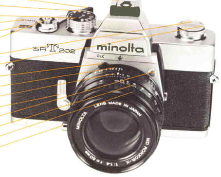 Minolta SR-T 200, 201, 202 instruction manual, user manual