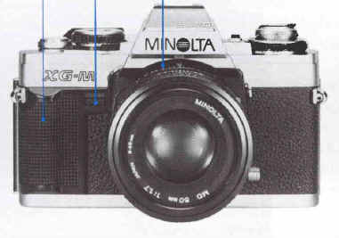 Vintage manual for a minolta xg-m camera free shipping w lens case.