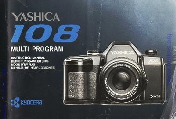 yashica 108 camera instruction manual user manual pdf manual free rh butkus org Canon Digital Camera Manual Sony Digital Camera