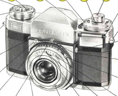 Zeiss Ikon Contaflex II instruction manual, user manual, PDF