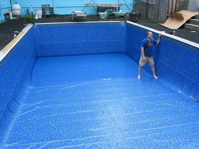 Integrity pools pool liners swimming pools home liner for Pool liner installation