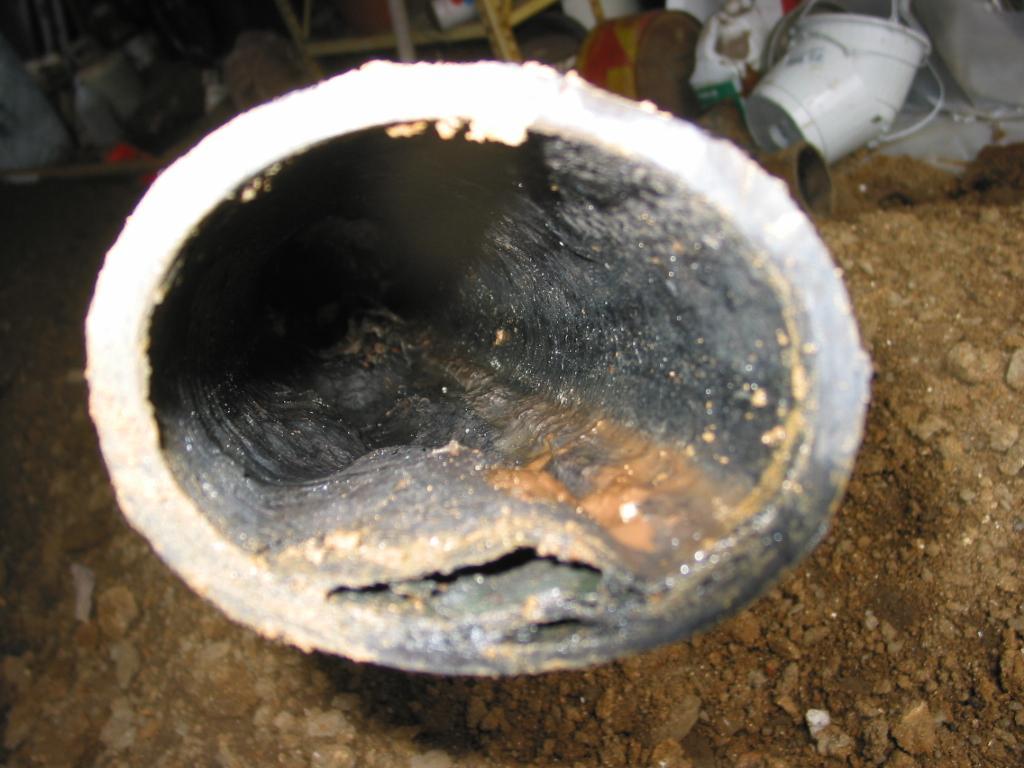 Orangeburg Pipe Home Sewer Repair Old Plastic Pipe