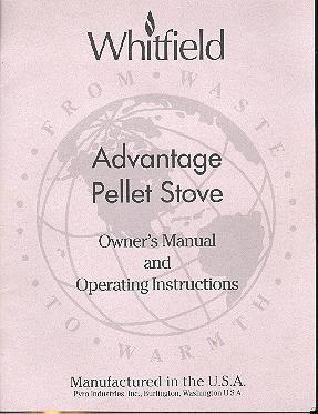 Whitfield Operating instructions, pellet stoves on